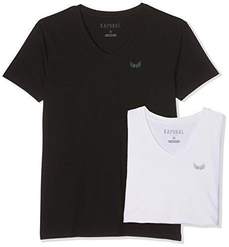 Kaporal - Coffret de 2 Tee-Shirts Basiques col v - Gift - Homme - XL - Blanc