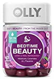 Olly Bedtime Beauty Gummy Skin Hydrating Melatonin Ceramides and LTheanine Sleep Supplement Sleep Aid, 1 Pack, Plum Berry Blossom, 40 Count