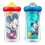 The First Years Disney Mickey Mouse Insulated Hard Spout Sippy Cups, 9 Ounce (Pack of 2)