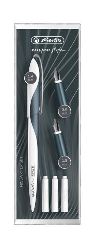 Herlitz 11360286 Nicewriter Set my.pen style, Dark Shale