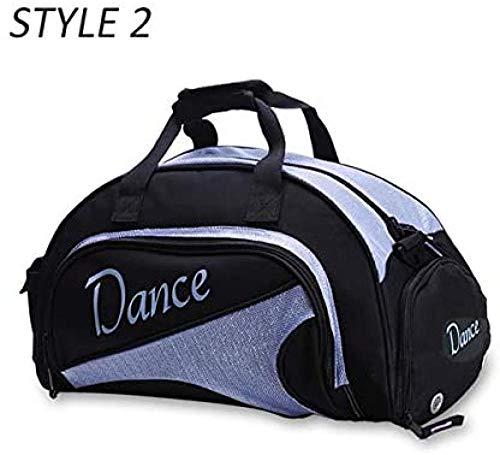 Dance Girl Gym Bag - Bolsa para Esterilla de Yoga para Mujer, para Entrenamiento de Fitness, Deportes, Bolso de Hombro, para Gimnasia de Baile, Deportes, Estilo 2, Color Azul