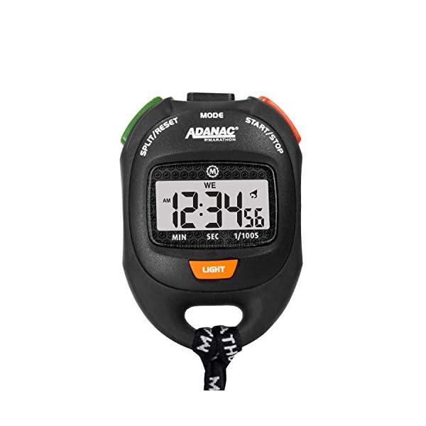 Adanac Professional Stopwatch Timer – Digital Blacklight Display with Grip...