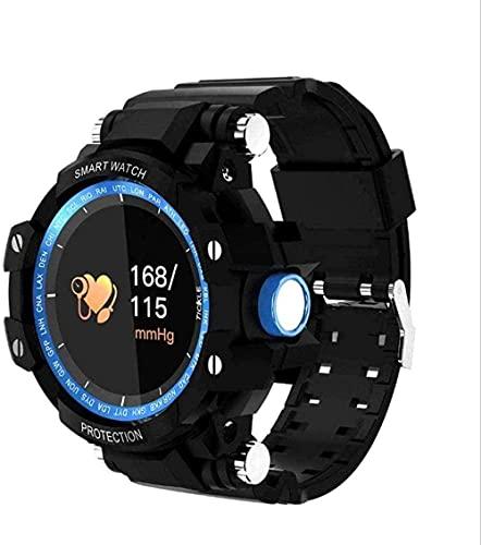 Reloj Inteligente Pulsera Inteligente Tres Anti-IP67 Impermeable Presión Arterial Monitoreo de Frecuencia Cardíaca Larga Espera Reloj Inteligente Pulsera Inteligente-Negro-Azul