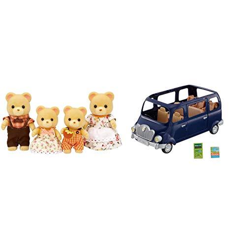 シルバニアファミリー 人形 クマファミリー FS-04 & シルバニアファミリー みんなでドライブ ファミリーワゴン V-02【セット買い】