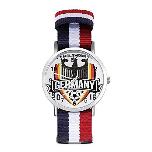 Euro 2016 Football Alemania Deutschland Shield - Reloj de pulsera trenzado, color...