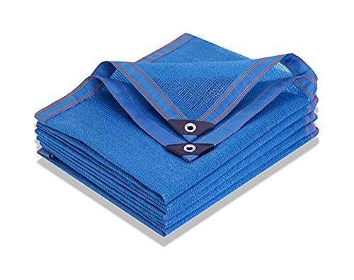 LLCY Tela de Sombra Azul 90% Sun Mesh Red Resistente a UV, Tapa de Malla de Sombra de jardín para Cubierta de Plantas, Invernadero, Granero o Perrera, Flores, Plantas Malla de sombreo