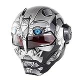 Wan&ya Iron Man Transformers Casco de Motocicleta Integral C