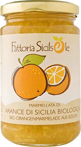 Fattoria Sicilsole Bio Orangen Marmelade, 370 gr Glas (6 x 370 gr)