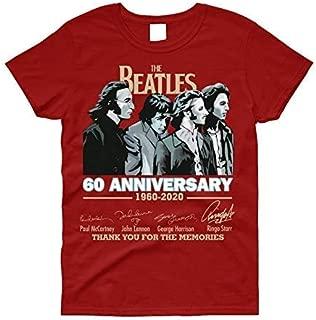 Beatles 60th Anniversary T Shirts 1960-2020 John Lennon Paul McCartney Harrison Ringo Starr Thank You for The Memories Hoodie/Long Sleeve/Tank Top/Sweatshirt Beatles Shirt Beatles Tshirt