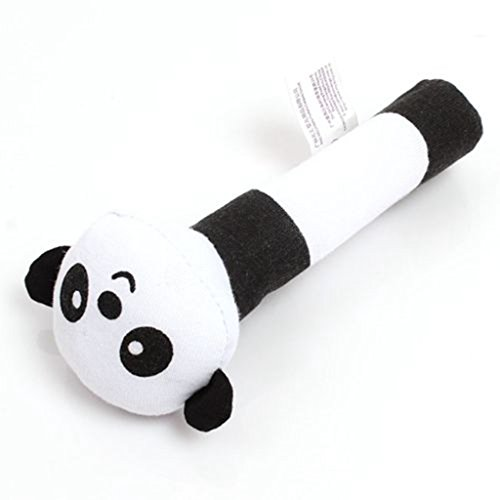 HENGSONG Bébé Animal Developmental Souple Infant Peluche Peluche Hochet (Panda)