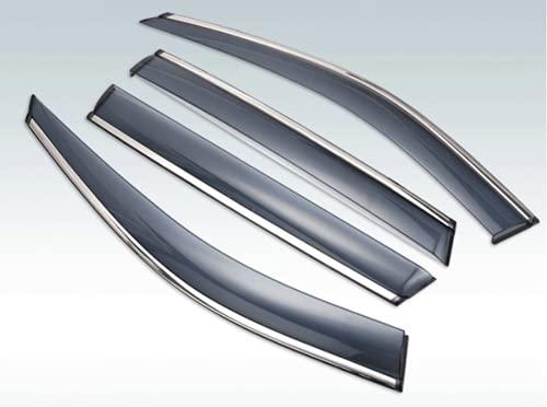 Visera Exterior de plástico ABS, Cortinas de ventilación, Deflector de protección contra la Lluvia y el Sol para Mitsubishi Outlander 2013-2019