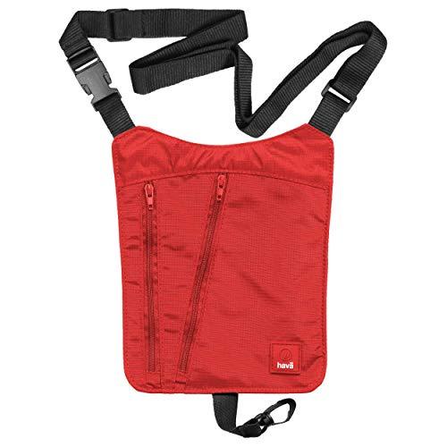 Hava: sicurezza corpo portafoglio/porta passaporto da viaggio con protezione RFID rosso Vermilion Red