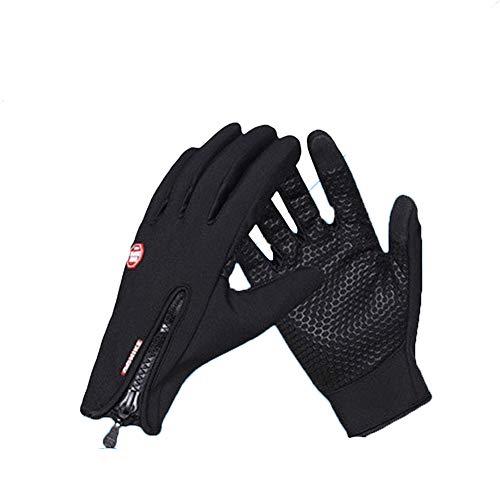 Winterhandschuhe Unisex Winddicht Anti-Rutsch-Gewebe Vollfinger-Touchscreen-Reißverschluss Mischfarbe Outdoor-Sportarten Skifahren Radfahren Handschuhe