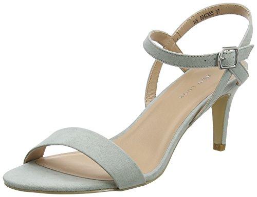 New Look 5042855, Scarpe con Cinturino alla Caviglia Donna, Verde Menta Verde 37, EU