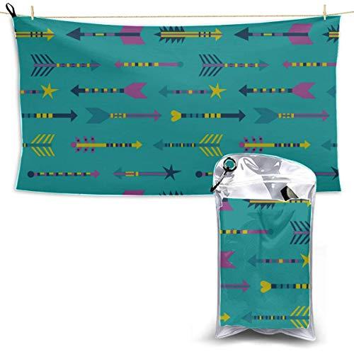 Toallas Beach Towels Shower Towels Toalla de secado rápido Toallas de tiro con arco de amor romántico lindo colorido para deportes Bathroom Towels 160X80CM