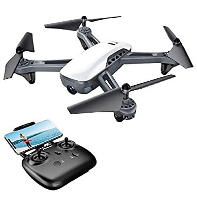 Potensic Drone with GPS and 1080P FHD Camera, 5G FPV Wifi Live Video Drone, GPS Smart Return Home, Follow Me, Altitude Hold, Point of Interest, Long Control Range Drone with High Capacity Battery