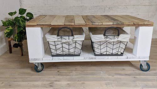 Mesa de palets Estilo Granero & Nordico & Rustico & Vintage No incluye las cestas