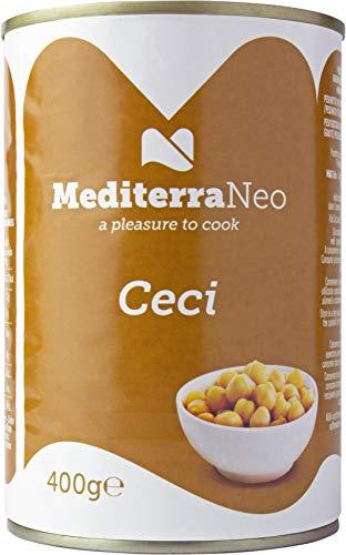 MediterraNeo - Garbanzos cocidos en lata, 400 g (paquete de 6)