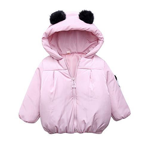 Hawkimin_Babybekleidung Hawkimin Kleinkind Baby Jungen Karikatur Panda Einfarbig warme mit Kapuze Winddichte Manteloberteile