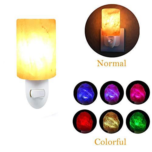 K.LSX Kids Nachtlampjes Plug In Muur, Mini Hand Gesneden Natuurlijke Kristal Himalaya Zout Lamp Nachtlampje Vervangende Lampen Wandlamp voor Luchtzuiverende En Slaapkamer Decoratie Verlichting