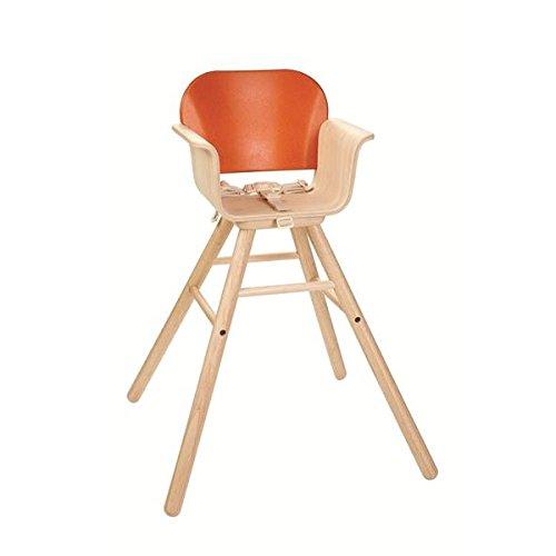 PLAN TOYS- High Chair-Orange, 8705, Wood