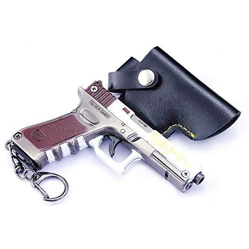 DJIEYU 1/3 Escala del Ejército Militar Miniatura Mini P18C Pistolas de Metal Modelo Pistola Figura Accesorios Juguete Llavero Die Cast Decoración Juguetes