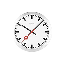 Unek Goods Nextime Station Wall Clock, Round, White Face, Battery Operated