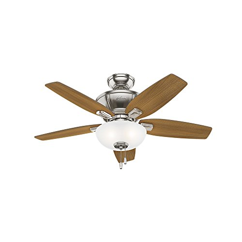 "Hunter Fan Company 51102 42"" Kenbridge Ceiling Fan with Light, Small, Brushed Nickel"