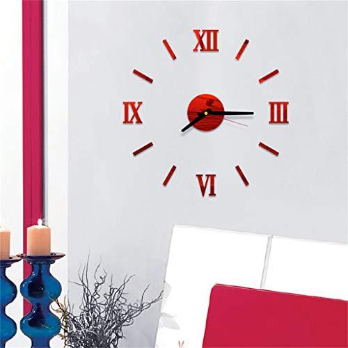 MarryoU Moderne Mute DIY große Wanduhr 3D Aufkleber Home Office Decor Geschenk