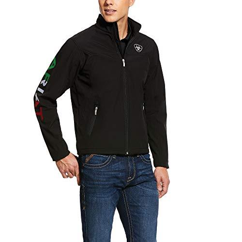 ARIAT Men s New Team Softshell Mexico Water Resistant Jacket Black Size Medium