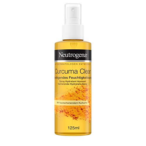 Neutrogena Curcuma Clear Gesichtspflege, Beruhigendes Feuchtigkeitsspray, ölfreies Gesichtsspray, 125ml