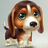 ZAWAGU Pintura Diamante DIY 5D Punto de cruz Set de regalo Dibujo perro bordado conjunto Diamante redondo