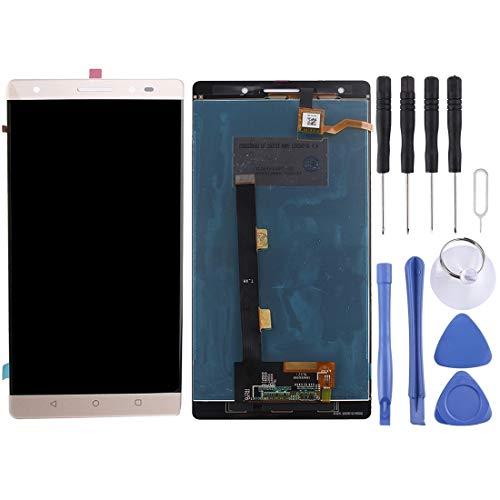 Zhouzl Lenovo LCD Screen LCD Screen and Digitizer Full Assembly for Lenovo Phab 2 Plus(Black) Lenovo LCD Screen (Color : Gold)