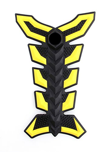 Areyourshop 3D Rubber Tank Pad Protector Gas Motorcycle Fit For Honda CBR 600 F4i Yellow