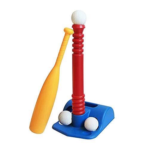 ECOSWAY T-Ball Set für Kleinkinder Kinder Baseball T-Shirt Spielzeug Set Enthält 2 Bälle Verstellbar T Höhe Verbessert Batting Fähigkeiten Neu