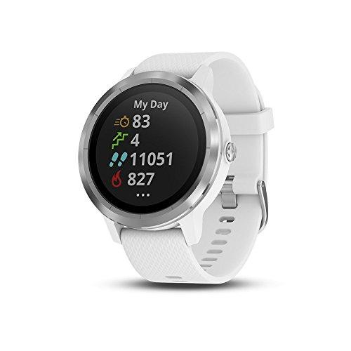 Garmin vívoactive 3 GPS Smartwatch - White & Stainless (Renewed)