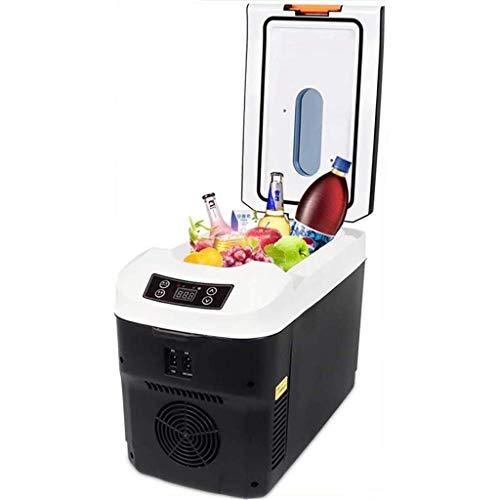 FEE-ZC Réfrigérateur De Capacité De 10 litres, Mini-Bar De Bureau Silencieux Refroidisseur Plus Chaud Voiture Domestique Mini Compact Portable Silencieux Bureau Voyage Multifonctionnel