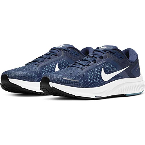 Nike Air Zoom Structure 23, Zapatillas para Correr Hombre, Midnight Navy White Cerulean Dk Obsidian Black, 44 EU