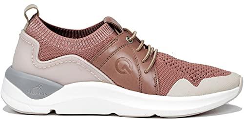 Fluchos | Zapato de Mujer | Atom F0879 Atom Rosa Deportivo | Zapato de Textil | Cierre con Cordones | Piso EVA