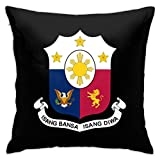 Philippine Embassy In Belgium Throw Pillowcase,Pillow Cover Square Cushion Case for Sofa Couch Car Bed Home Decorative 18' x 18' Inch