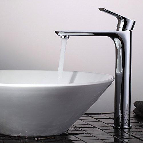 Homelody Hohe Badarmatur Waschtischarmatur Wasserhahn Bad Mischbatterie Armatur Einhebelmischer Waschtisch Waschbeckenarmatur für Badzimmer
