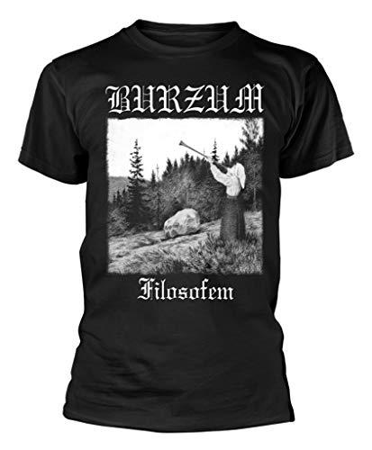 Burzum 'Filosofem (White Print)' (Black) T-Shirt (Small)