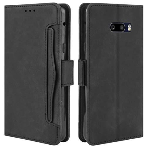HualuBro Handyhülle für LG G8X ThinQ Hülle, LG V50S ThinQ Hülle Leder, Flip Hülle Cover Stoßfest Klapphülle Handytasche Schutzhülle für LG G8X ThinQ Tasche (Schwarz)