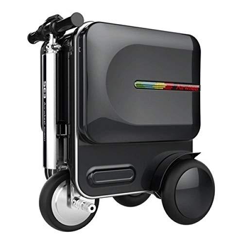 XIAOYUB Smart Riding Scooter Suitcase con Luces Led De Varilla Extensible Oculta, Altavoces Bluetooth, Interfaz USB, Pantalla De AplicacióN Inteligente, 29.3L De Gran Capacidad
