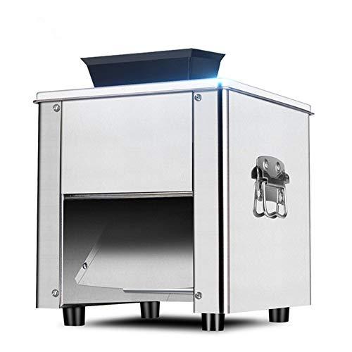 Máquina de carne eléctrica Cortadora de carne Picadora de carne de acero inoxidable Rebanadora de alimentos Máquina triturada Amasadora casera completamente automática Cortadora en cubitos (220V)
