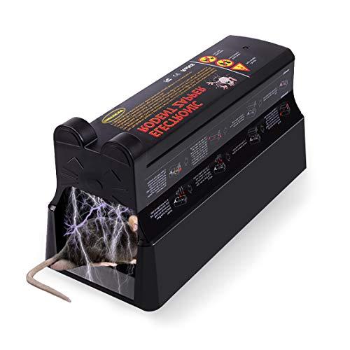 MarkField Elektronische Mausefalle Rattenfalle Mäusekiller, Effiziente Sichere 7000V Nagetier Zapper, Für den Innen- und Außenbereich, Keine Berührung,...