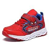 wuzhengzhijia Baskets Spiderman for Enfants, Chaussures for Enfants Rouges Chaudes et à la Mode for l'automne et l'hiver, Confortables et Respirantes for l'entraînement et la Course (Size : 26)