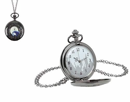Disney La Pesadilla Antes de Navidad Jack & Sally Hill diseño de medallón Collar de Reloj de Bolsillo