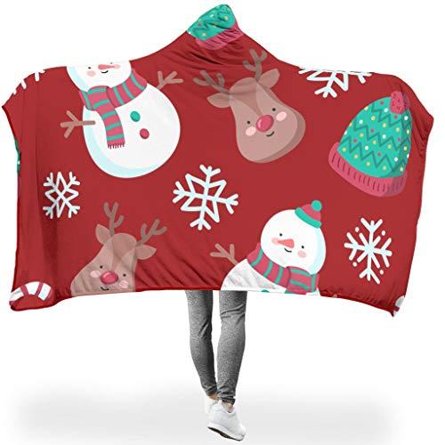 Charzee Christmas Tree New Year serietapijt, hooded Throw wrap, ultrazacht en warm, zacht, microvezeldeken voor de deken, voor kinderen