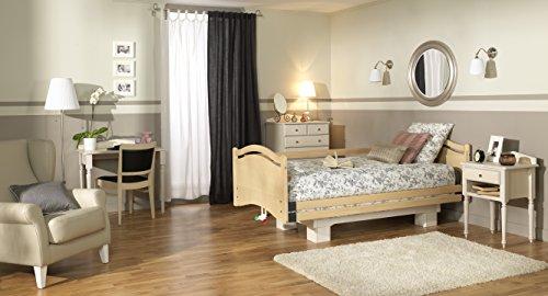 Home Aussehen Elektrisches Pflegebett höhenverstellbar Homecare Bett Buche